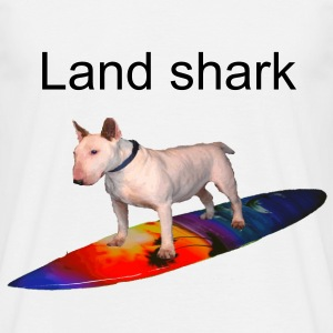 White SurfingBullTerrier Men's Tees - Men's T-Shirt