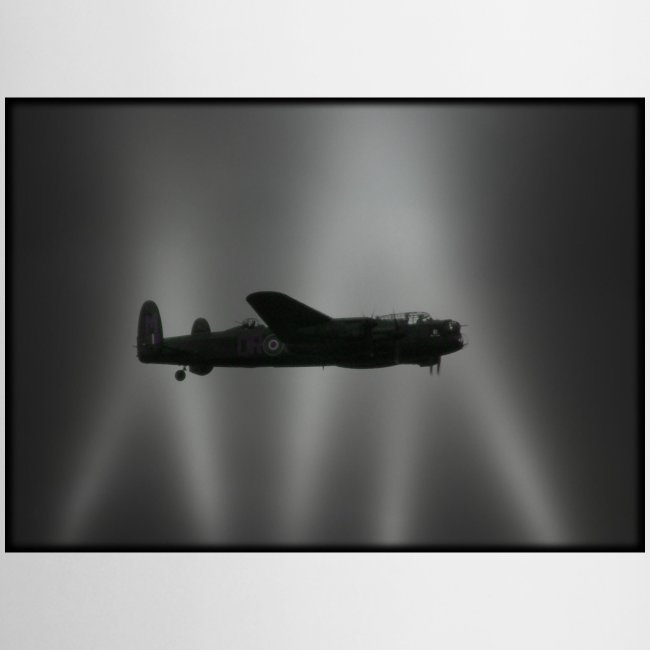 Lancaster in search lights Mug