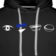 Design ~ Men's Eye Heart Bath Hooded Sweatshirt