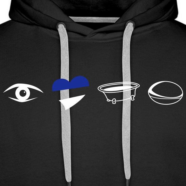Men's Eye Heart Bath Hooded Sweatshirt