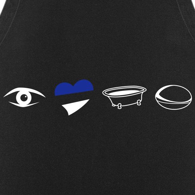 Eye Heart Bath Cooking Apron