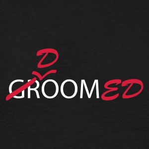 Black Groom (bruidegom, vrijgezellen avond, wedding) Men's Tees (short-sleeved) - Mannen T-shirt