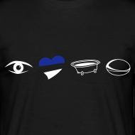 Design ~ Men's Eye Heart Bath T-Shirt