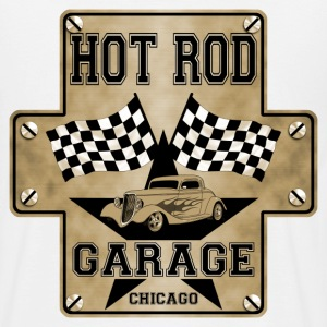 Hot Rod and racing flags - T-shirt Homme
