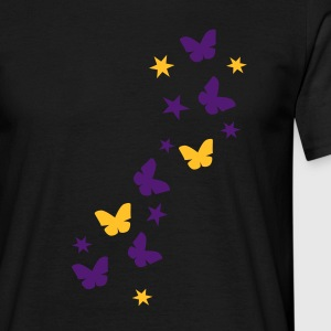 Sort butterfly_stars1 T-shirts - Herre-T-shirt