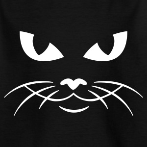 Schwarz cat face - katzengesicht Kinder Shirts - Teenager T-Shirt
