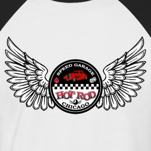 Hot Rod  - T-shirt baseball manches courtes Homme