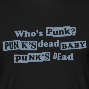 Black Punk's dead T-Shirt - Mannen T-shirt