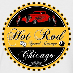 Hot Rod logo - T-shirt baseball manches courtes Homme