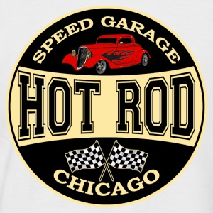 vintage hot rod logo - T-shirt baseball manches courtes Homme
