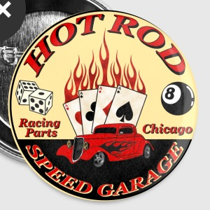 Hot Rod -vintage logo- - Badge grand 56 mm