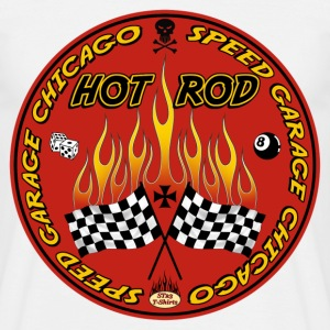 Red hot rod logo - T-shirt Homme