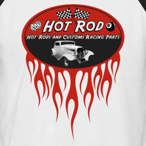 Hot Rod flaming - T-shirt baseball manches courtes Homme