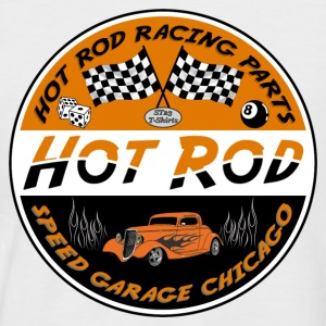 hot rod racing parts - T-shirt baseball manches courtes Homme