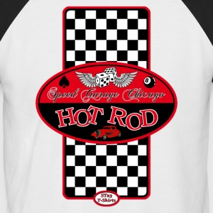 Hot Rod racing logo - T-shirt baseball manches courtes Homme