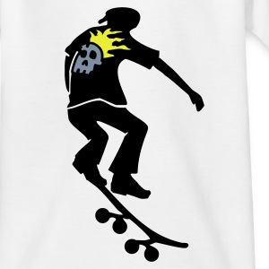 Weiß Skater Kinder Shirts - Teenager T-Shirt
