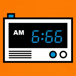 Orange/schwarz 666 clock - Your time has come T-Shirts (Kurzarm) - Männer Kontrast-T-Shirt