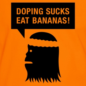 Orange/schwarz doping sucks T-Shirts (Kurzarm) - Männer Kontrast-T-Shirt