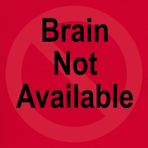 Rot/weiß brain not available T-Shirts (Kurzarm) - Männer Kontrast-T-Shirt