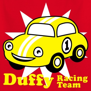 Red duffy racing team Juniors - T-skjorte for tenåringer