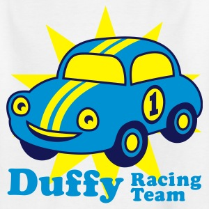 White duffy racing team Juniors - Teenager T-shirt