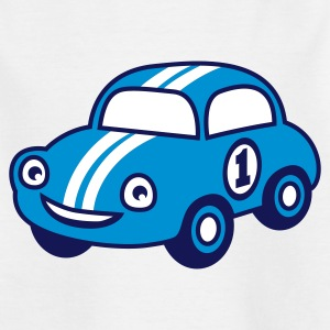 White racing car Juniors - Camiseta adolescente