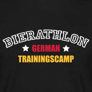 Schwarz Bierathlon Trainingscamp © T-Shirts (Kurzarm) - Mannen T-shirt