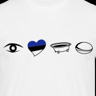 Design ~ Men's Eye Heart Bath White T-Shirt