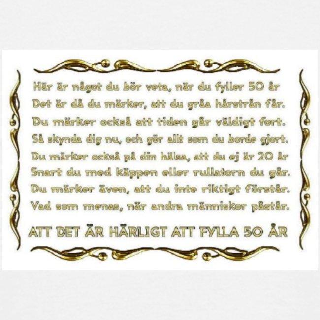 50 års text Tröjtryck med roliga och tänkvärda texter och bilder | Att fylla  50 års text