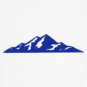 White/navy mountains, winter, snow, skiing, snowboard Men's Tees (short-sleeved) - Men's Ringer Shirt