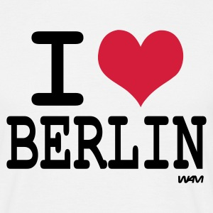 Blanc I love berlin T-shirts (m. courtes) - T-shirt Homme