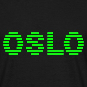Black geo_oslo_terminal_1c Men's Tees (short-sleeved) - Men's T-Shirt