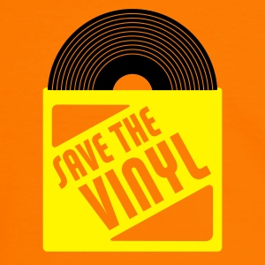 Orange/schwarz save the vinyl T-Shirts (Kurzarm) - Männer Kontrast-T-Shirt
