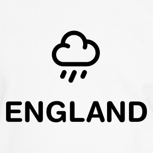 White/black geo_england_rain_1c1 Men's Tees (short-sleeved) - Men's Ringer Shirt
