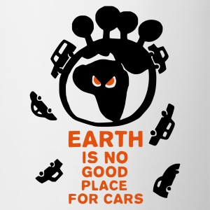 Bianco Earth is no good place for carsEarth is no good place for cars Tazze - Tazza