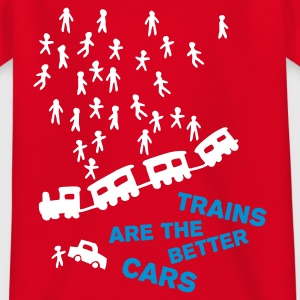 Red Trains are the better cars Kid's Shirts  - Teenage T-shirt
