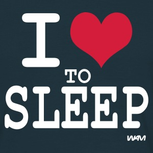 Marine i love to sleep T-shirts (m. courtes) - T-shirt Homme