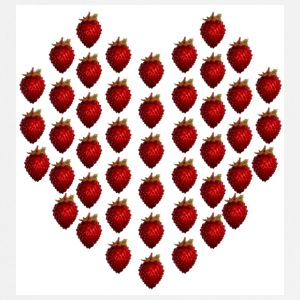 White strawberryheart  Aprons - Cooking Apron