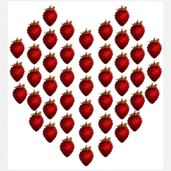 Strawberry Heart Cooking Apron