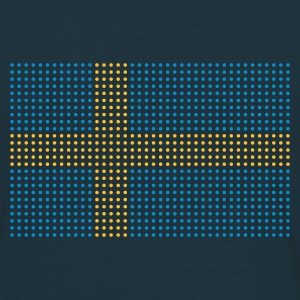 Navy geo_flag_sweden_plsph_2c Men's Tees (short-sleeved) - Men's T-Shirt
