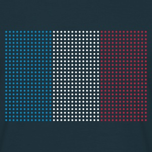 Navy geo_flag_france_plsph_3c Men's Tees (short-sleeved) - Men's T-Shirt