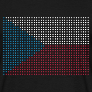 Black geo_flag_czech_plsph_3c Men's Tees (short-sleeved) - Men's T-Shirt