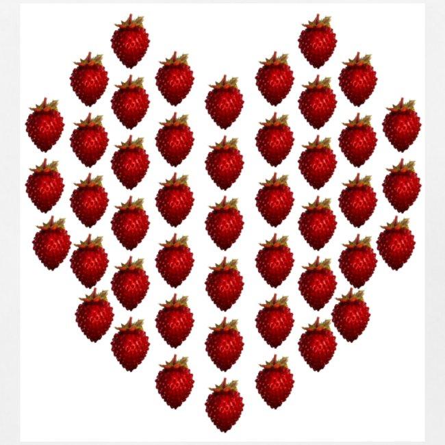 Wild Strawberry Heart Baby Bib