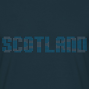 Navy geo_scotland_plsqr_2c01 Men's Tees (short-sleeved) - Men's T-Shirt
