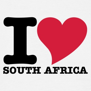 White I Love South africa Men's Tees - Men's T-Shirt