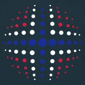 Navy geo_dotsphere_norway_3c01 Men's Tees (short-sleeved) - Men's T-Shirt