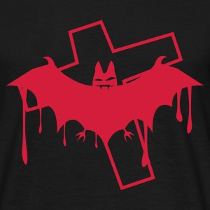 Sort batcave_fledermaus_death1 T-shirts - Herre-T-shirt