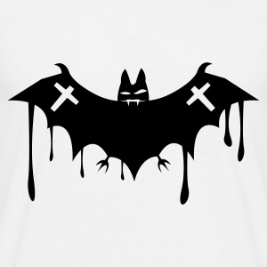 Hvid batcave_fledermaus_death2 T-shirts - Herre-T-shirt