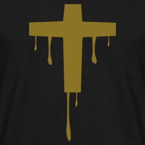 Sort cross_kreuz_melting T-shirts - Herre-T-shirt