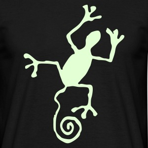 Lizard glowing - Men's T-Shirt